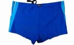 Zwembroek met pijpjes, royal blauw-turquoise