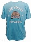 Kitaro t-shirt 'See you in Cuba', turkis