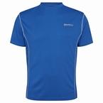 Sportshirt, effen cobalt blauw