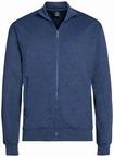 Ahorn vest met rits, blauw-grijs melée