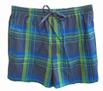 Zwemshort Schotse ruit, navy-blauw-groen