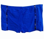 Zwembroek m. pijpjes met sierrand , blauw