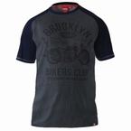 T-shirt 'Brooklyn Bikers Club', d.grijs/zwart