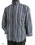 GCM Overhemd gestreept in lengte, navy