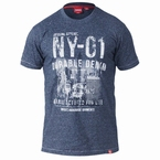 T-shirt 'NY-01 Durable Denim', blauw melee