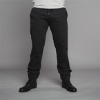 Superstretch jeans w. elastic waist, black wash