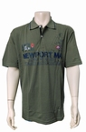Meantime Polo pique print Newport, khaki