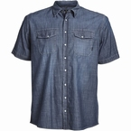 Replika  Overhemd KM Chambray, navy