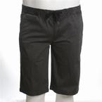 Replika stretch shorts m. elast. boord, zwart