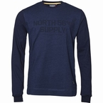 North 56°4 Sweater North Supply, indigo blauw