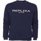 Replika Crew neck sweater REPLIKA, blauw