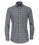Casa Moda Comfort Fit overhemd lange mouw, karo navy