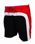 Zwemshort, zwart/wit/rood