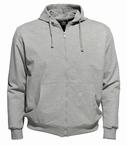 Ahorn sportief vest met capuchon, grijs melée