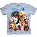 T-shirt Puppy selfie