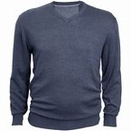 North 56°4 Pullover met V-hals, denim blauw