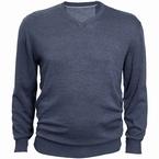North 56°4 Pullover met V-hals, denim blauw