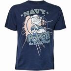 Replika t-shirt Popeye, navy blauw