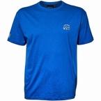 North 56°4 T-shirt m. print, mid blauw