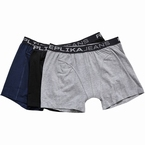 Replika boxershorts met stretch 3-pack, zw-gr-navy
