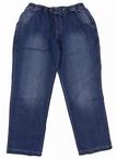 Jogging jeans m. rondom elastisch boord, stonewash