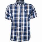 North 56°4 shirt KM, blauw geruit