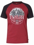 D555 T-shirt 'New York City', rood/navy