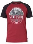 D555 T-shirt 'New York City', rood/navy