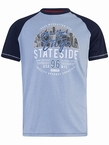 D555 T-shirt 'New York City', l.blauw/navy