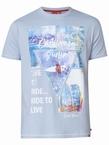D555 T-shirt 'California Surfin', zacht blauw