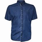 North 56°4 denim blouse korte mouw, indigo