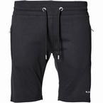 Replika sweat shorts m. tricot boord, zwart