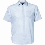 North 56°4 zomers shirt KM, l.blauw gestreept