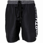 North 56°4 Zwemshorts print op zijkant been, zwart