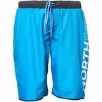 North 56°4 Zwemshorts print op zijkant been, turquoise
