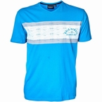 North 56°4 V-hals t-shirt 'Cold Hawai', blauw