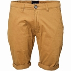 North 56°4 Chino shorts met stretch, koperbruin