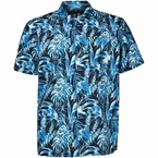 North 56°4 polo m. zomerprint, blauw