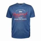 Replika t-shirt 'The Original', blauw melange