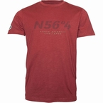 North 56°4 T-shirt 'North Atlantic Challenge', wijnrood