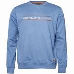 Replika Crew neck sweater Replika Jeans, blauw