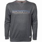Replika Crew neck sweater Replika Jeans, d.grijs