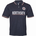 North 56°4 polo piqué N56, navy blauw