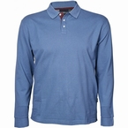 North 56°4 polo piqué lange mouw, blue melange