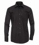 Casa Moda strijkvrij Comfort Fit overhemd LM, zwart