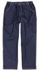 Jogging jeans m. stretch + elastisch boord, navy