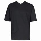 MAVERICK 2-pack t-shirts met V-hals, zwart