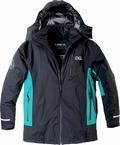 Aero Ski Jack 3K, zwart-aquagroen