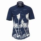 Casa Moda Kent overhemd KM Casual Fit, palm navy