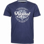 Replika T-shirt 'Original Jeans', navy